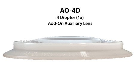 Add-On 4 Diopter Lens with Silicone Gasket