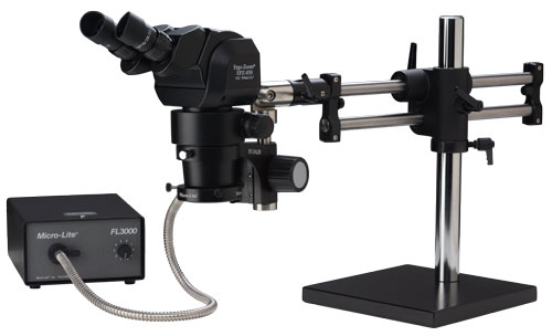 "Ergo-Zoom® Ergonomic Position Zoom EPZ-850 Adjustable Microscope - 16"" Tall Ball Bearing Base"