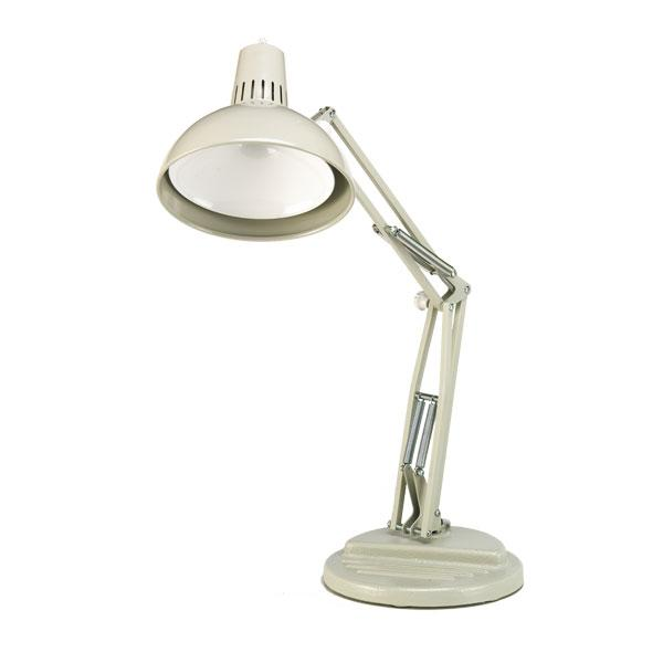 "OC White Flare Lamp 25"" Reach - Weighted Portable Base"