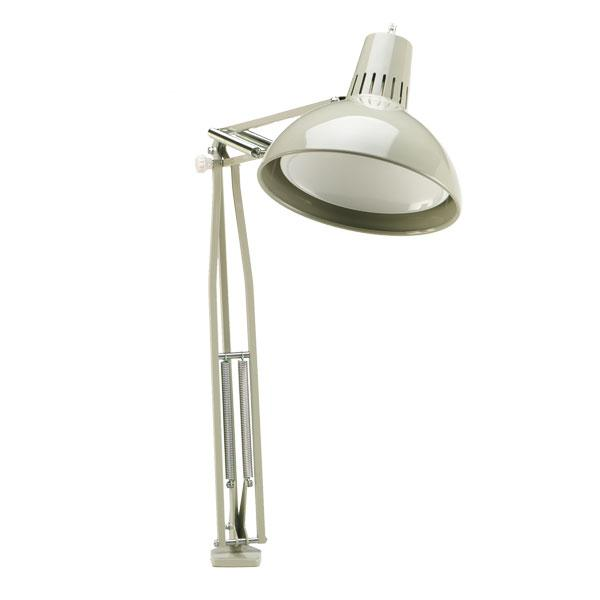"OC White Flare Lamp - 25"" Reach - Table Edge Clamp"