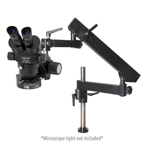 Pro-Zoom™ 6.5 Binocular Microscope - Articulating Arm Base