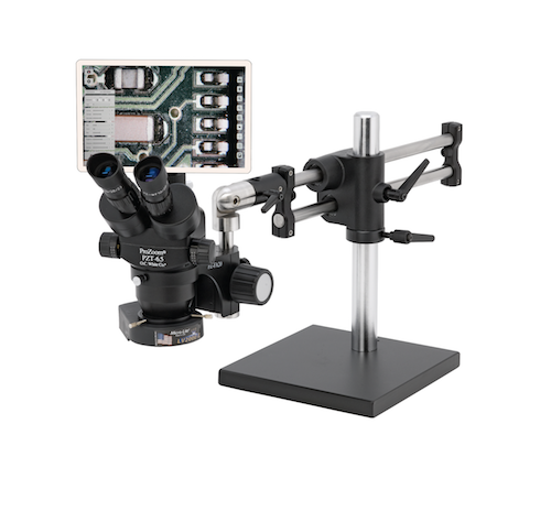 "ProZoom® 6.5 Trinocular Microscope with 5MP Ultra-Cam™ and 12"" Integrated LCD Monitor"