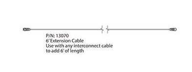 Extension Cable (6 ft / 1.8m) for LED-1936 Machine Lights