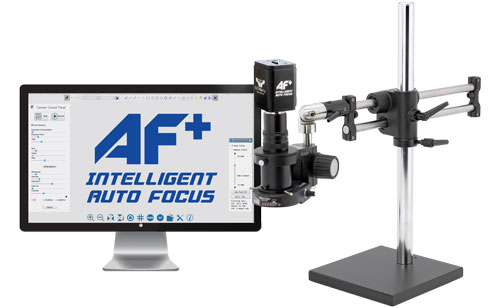 MacroZoom AF+ Intelligent Auto Focus HD Video Inspection System - 24'' Double Ball Bearing Base