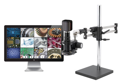MacroZoom High Definition Video Inspection System - Double Ball Bearing Base